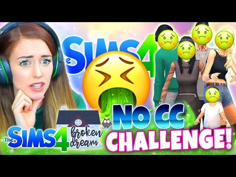 I HATE THEM ALL...🤢 Broken Dream NO CC CHALLENGE! 🤮 (The Sims 4 CAS)