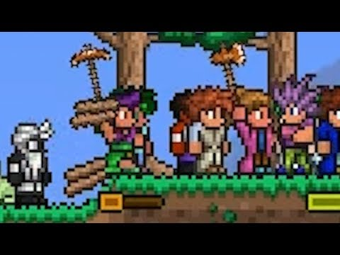Terraria, but we tried to fill 255 Player Slots on the server