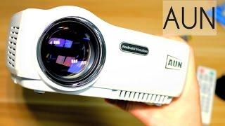 проектор AUN AM01S 1400 люмен светодиодный Обзор Тест видео. Купить за 100