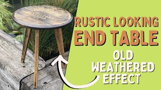 DIY Build an Oak Barrel Style Side Table out of An Old Fire Surround ASMR