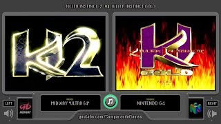 Killer Instinct 2 (Arcade vs Nintendo 64) Side by Side Comparison (Killer Instinct Gold)