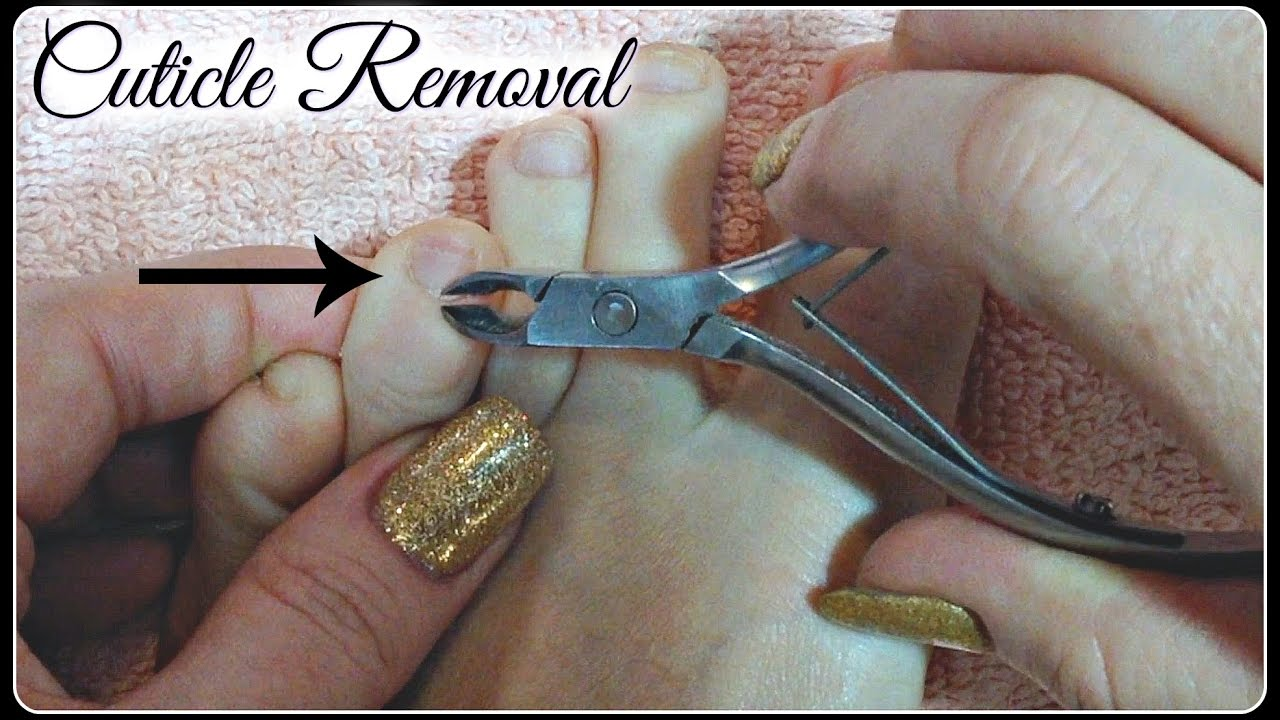 Pedicure Tutorial: Cut or Remove Cuticles Using Cuticle Nippers ...
