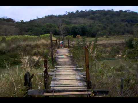 Travessia Do L�cio Na Ponte Do Rio Que Cai