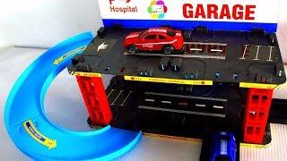 لعبة جراج عربيات المستشفى الجديد للاطفال افضل العاب السيارات وسباقات الشاحنات للبنات والاولاد
