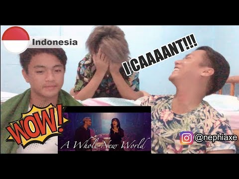 Gamaliél, Isyana Sarasvati - A Whole New World (Indonesia Version) | REACTION