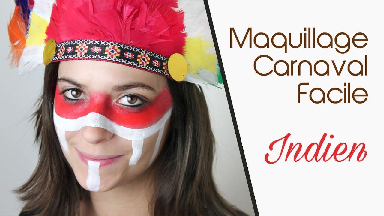 maquillage carnaval facile indien youtube. Black Bedroom Furniture Sets. Home Design Ideas