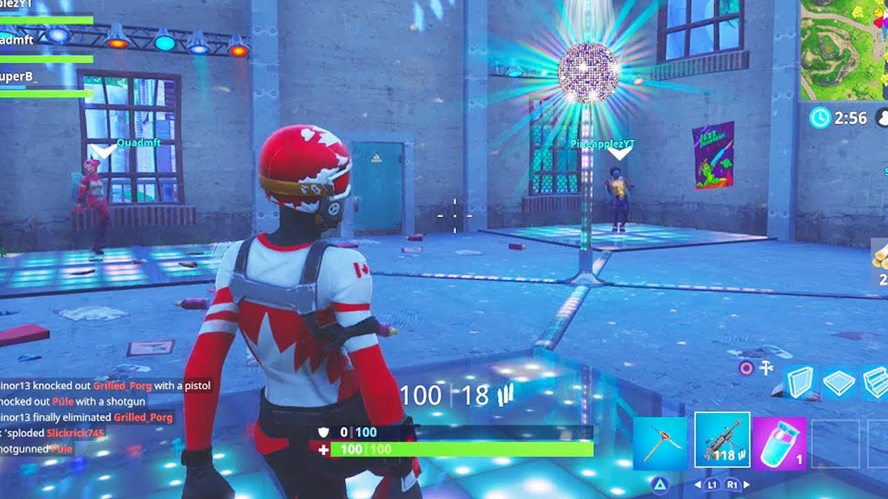 Dance With Others To Raise The Disco Ball Near Loot Lake Location Fortnite Week 5 Challenges Youtube