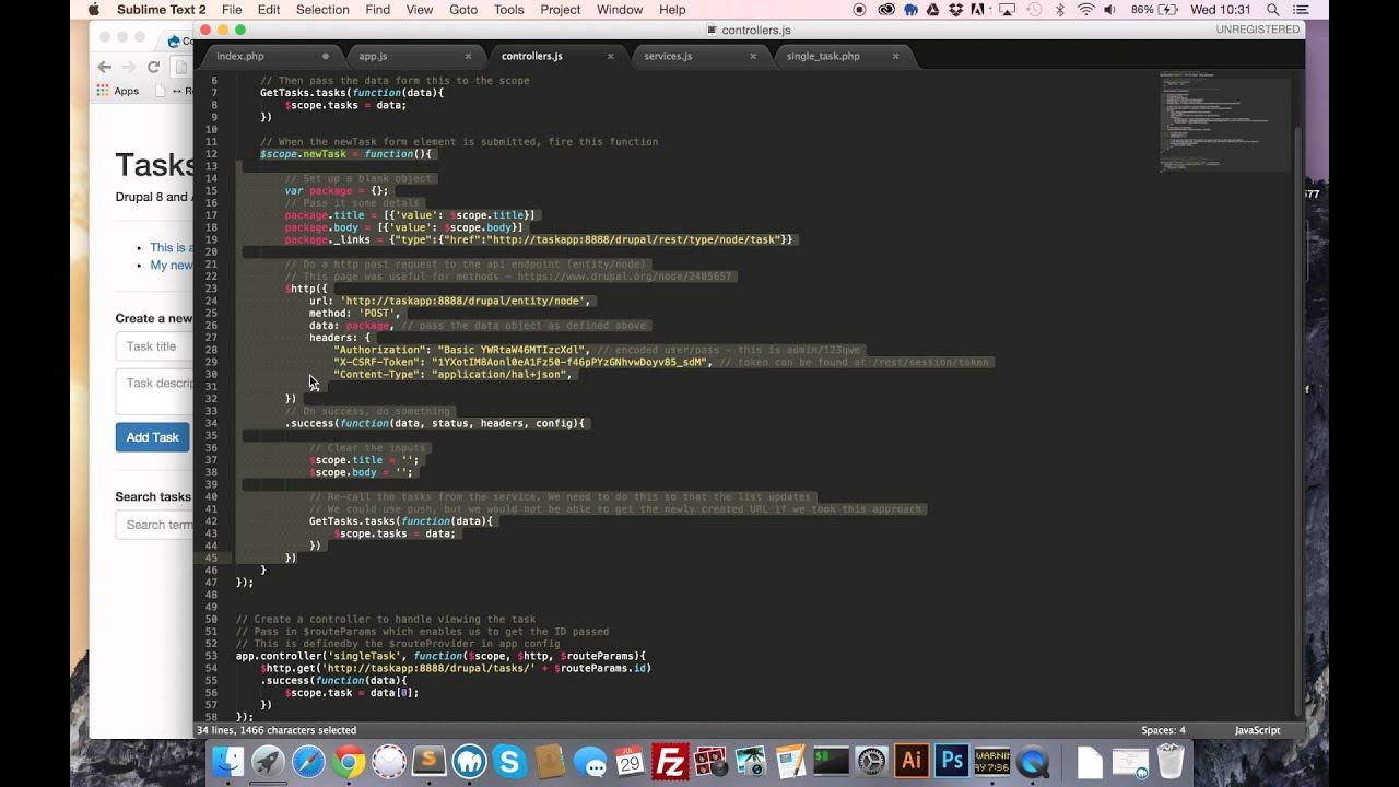 AngularJS + Drupal 8 REST API