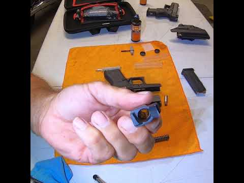 How to disassemble and clean your glock, Glock 43, G43, Glock 26, G26, Glock 22, G22, etc