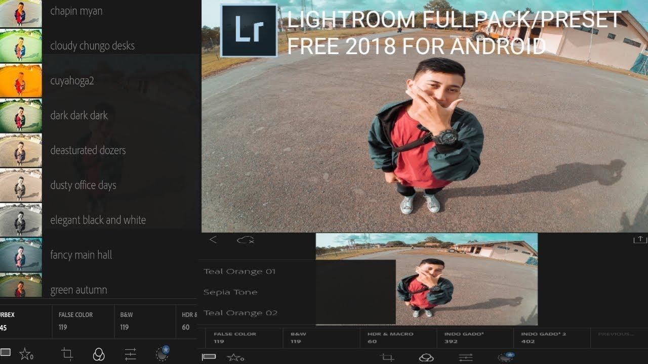 Lightroom Fullpack/Free Preset For Android