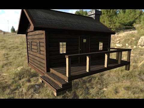 Texturing A cabin In Substance Painter 2