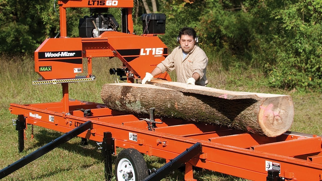 Wood Mizer Lt15go Portable Sawmill Ready To Go When You