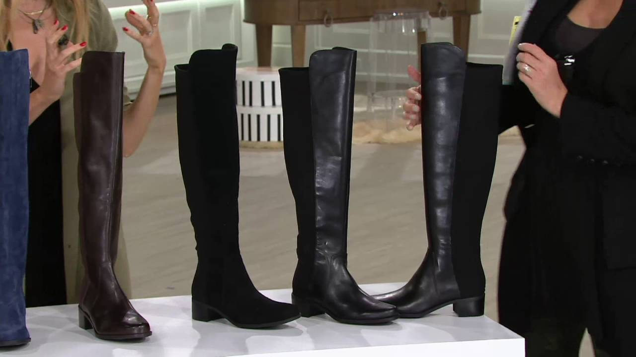 fd33b6f3156 Marc Fisher Leather or Suede Over the Knee Boots - Idle on QVC - YouTube