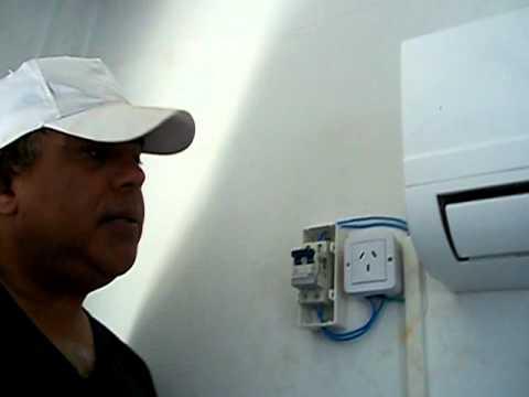 Como instalar aire acondicionado parte electrica youtube for Temperatura de salida de aire acondicionado split