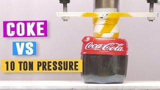 Coke vs 10 Ton Hydraulic Pressure - Will it Crush or Not?