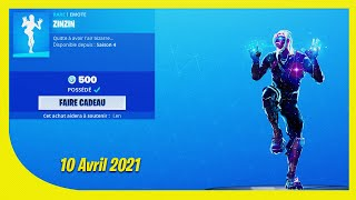 BOUTIQUE FORTNITE du 10 Avril 2021 ! ITEM SHOP April 10 2021 !
