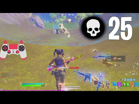 High Elimination Solo vs Squads Gameplay Full Game Season 6 (Fortnite Ps4 Controller)