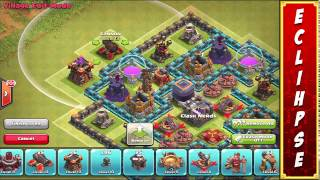 Clash of Clans INSANE TOWNHALL 9 LABYRINTH FARMING BASE! Maze of Doom! 1