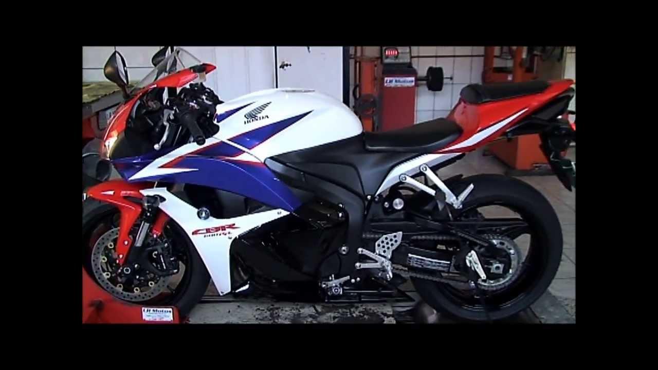 Lr Motos Honda Cbr 600 Rr Branca No Simulador De Velocidade Youtube