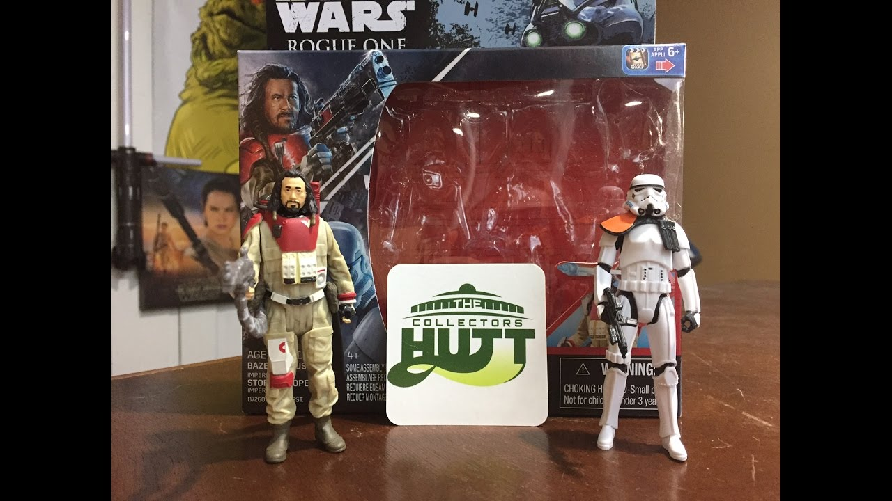 """Star Wars Rogue One 3.75/"""" Baze malabus vs IMPERIAL STORMTROOPER Action Figures"""