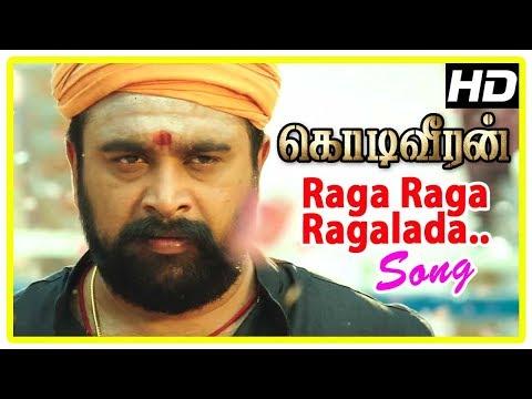 Sasikumar Mass Intro | Raga Raga Ragalada Song | Kodi Veeran Movie Scenes | Vidharth | Sanusha