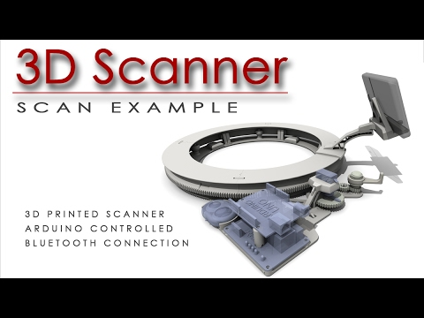 3D printed 3D Scanner ... in action