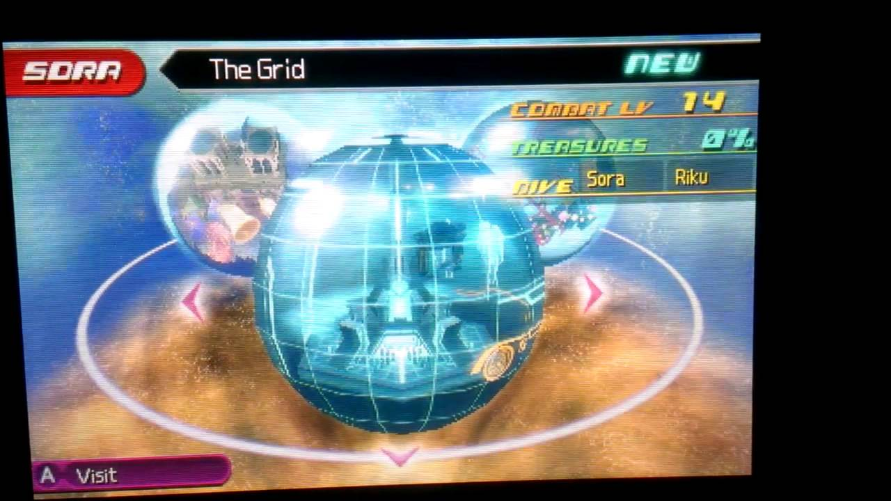 kingdom hearts dream drop distance 3ds world map