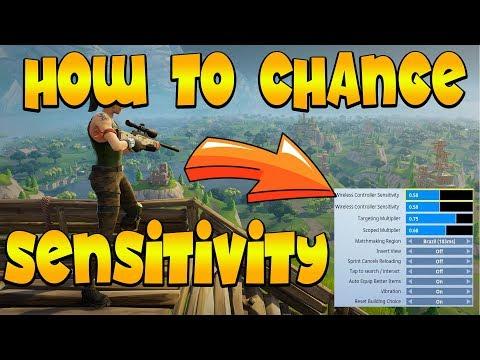 HOW TO CHANGE SENSITIVITY IN FORTNITE (Fortnite Battle Royale)