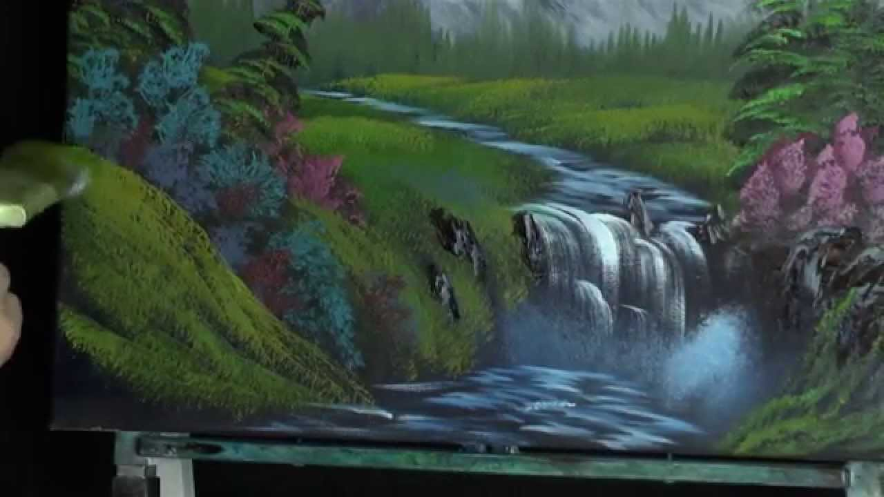 Mountian Falls Painting Lesson Youtube
