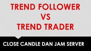CANDLESTICK, TRADING TREND VS TREND FOLLOWER DAN JAM SERVER
