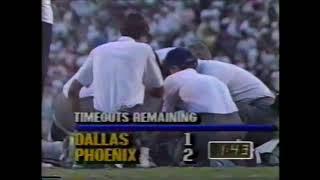 Troy Aikman Gets KOd While Throwing 75-yard TD to James Dixon (Cowboys at Cardinals, Week 10 1989)