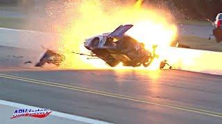 Alan Prusiensky Big Crash 2019 NHRA NTK Carolina Nationals