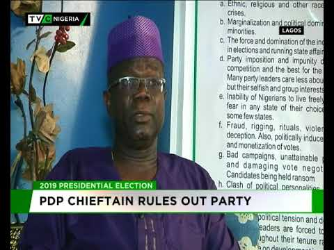 PDP chieftain rules out PDP of winning 2019 Presidency