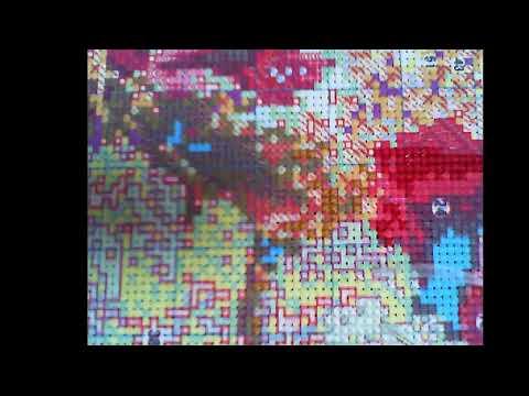 대형십자수 공작과 모란 - 199일차 / Cross Stitch Peacock  and Peony  DAY 199