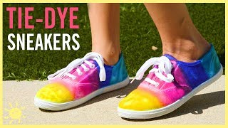 DIY | Tie-Dye Sneakers (Made w. Sharpies!!)