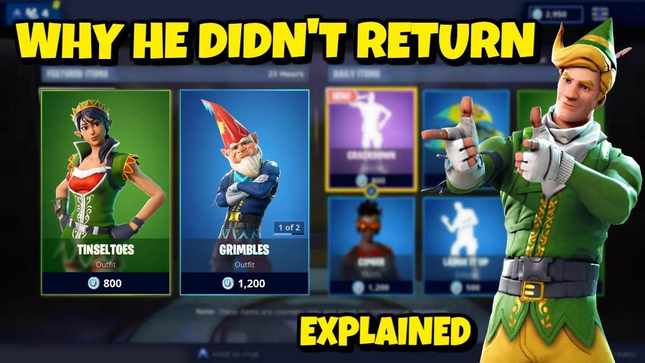 why codename elf skin won t return in fortnite explained - fortnite codename elf skin