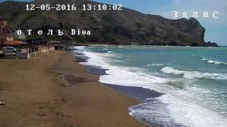 Судак.Море.Пляж.Шторм.камера наблюдения(подробнее по ссылке http://sudakonline.info/201605122173/novosti/video-lenta-sudaka/2173-sudak-more-plyazh., 2016-05-12T13:01:37.000Z)