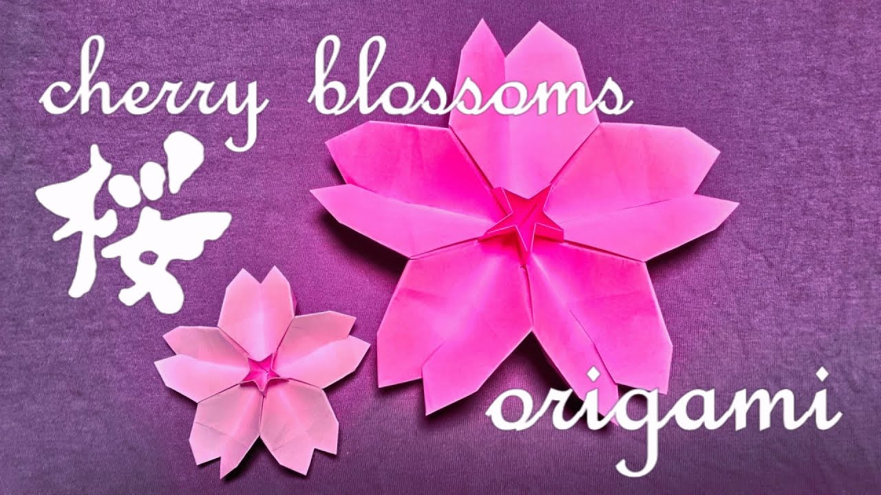 how to make origami quotcherry blossomsquot youtube