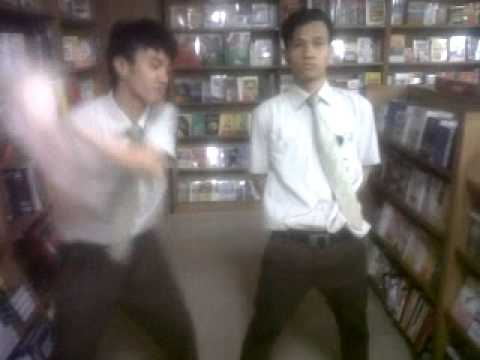"JackAss Indonesia at bookstore ""the cow hit bird"""