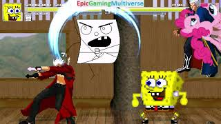 Devil May Cry Characters And DoodleBob And SpongeBob VS Pinkie Pie In A MUGEN Match / Battle / Fight