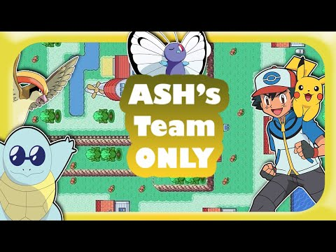 Can You Beat Pokemon Ash Grey (Fire Red Rom Hack) With Ash's Team ?? (No Items)