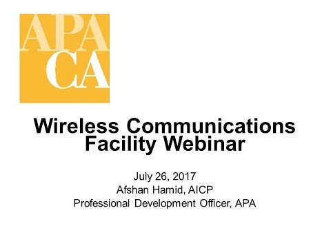 Wireless Communications Facility Webinar