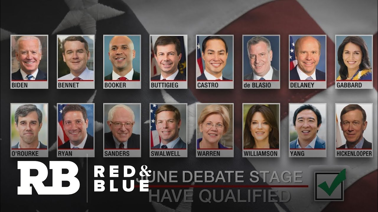 DNC releases list of candidates for first 2020 debates