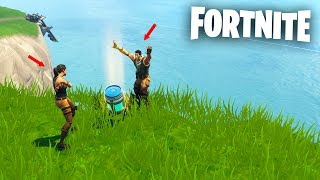 I do pass by * NOOB * to make friends in Fortnite Battle Royale! End very sad 😭