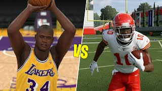 Can The Fastest Player In The NFL Return A Kickoff Before Shaq Hits A Three? NBA 2K vs Madden!