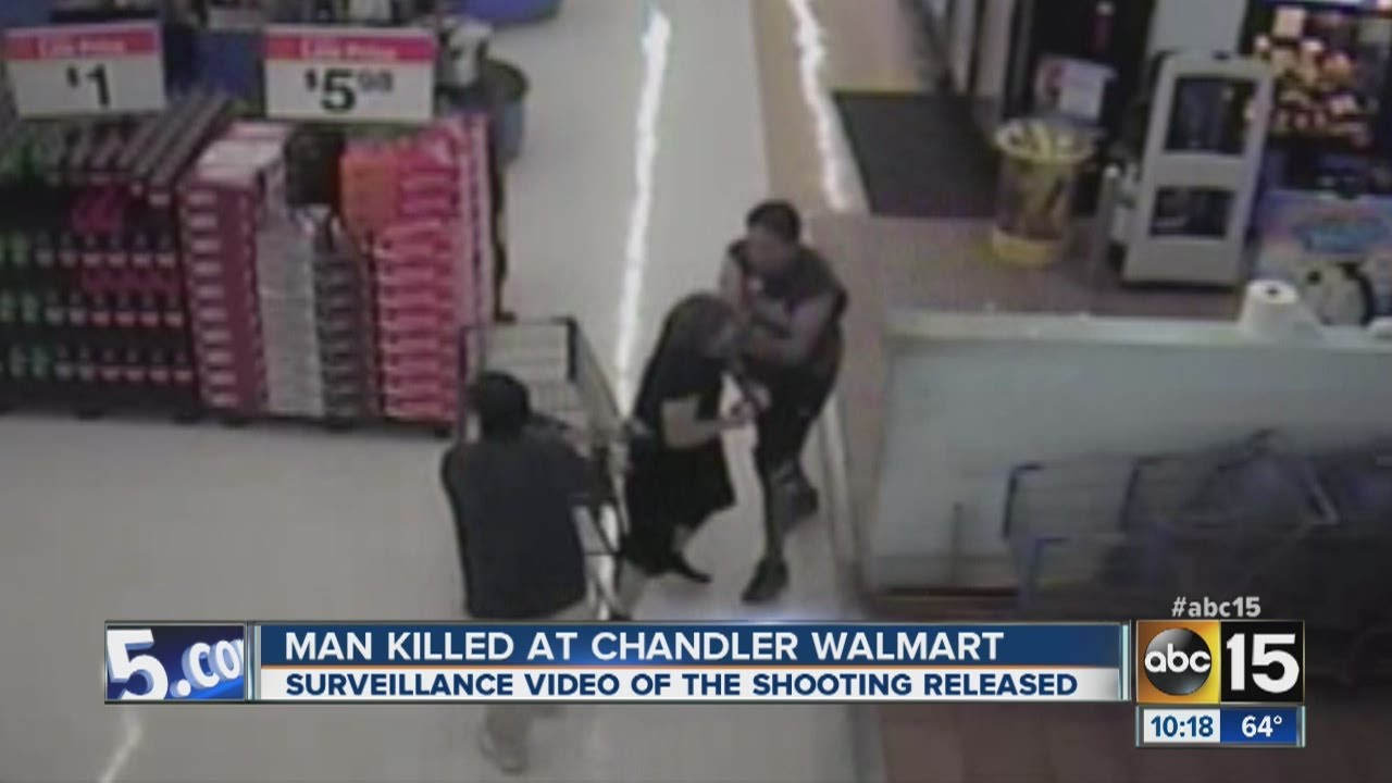 Surveillance video and audio recordings show what happened in Chandler  Walmart