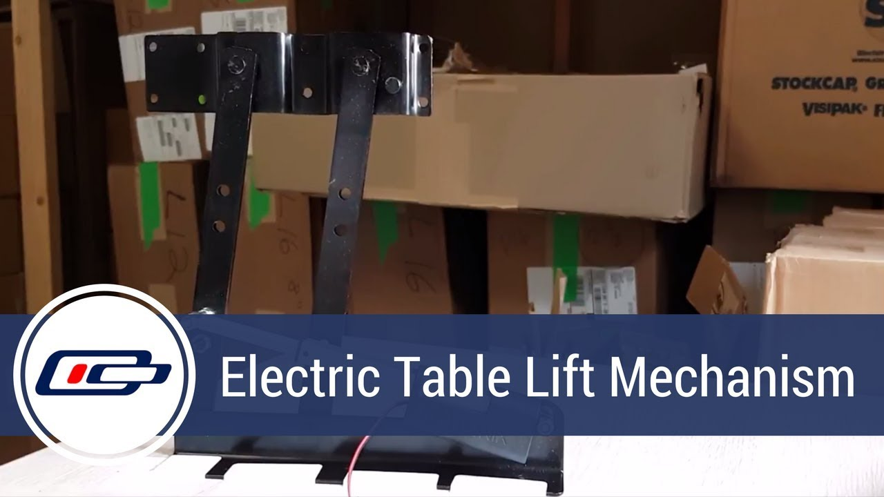 Electric table lift mechanism youtube electric table lift mechanism greentooth Gallery