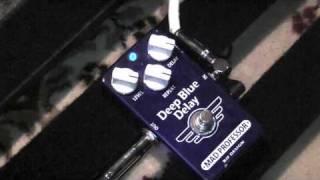 Mad Professor Deep Blue Delay Pedal Demo