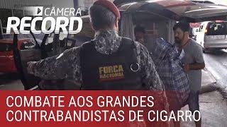Câmera Record acompanha operação da polícia no combate ao contrabando