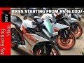 BikES STARTING FROM RS.16,000/-  KTM, PULSAR, BULLETS, APACHE, INTRUDER )